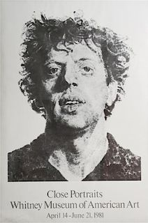 After Chuck Close, (American, b. 1940), Phil, 1981 from the Whitney Museum's Close Portraits