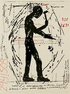 """Jonathan Borofsky (b. 1942) """"Workers of the Planet Earth"""", ed. 35"""