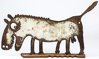 Folk Art Cut Steel Alpha Dog