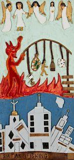 """Leroy Almon (20th c.) """"Satan Fishing"""", 1984"""