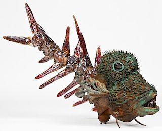 Densaborou Oku (Japan, b. 1945) Fish Sculpture