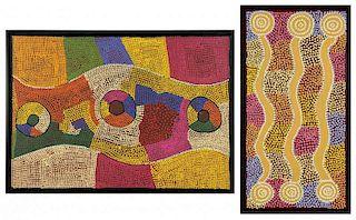 2 Aboriginal Paintings on Canvas
