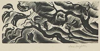 "Clair Leighton (British/American, 1898-1989) ""Rain"""