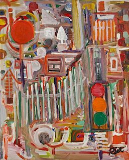 Ronald Rice (1953-2009) Abstract Painting