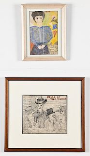 Justin McCarthy (American, 1892-1977) 2 Works