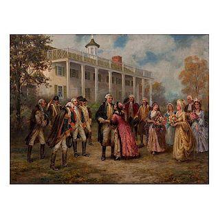 Edward Percy Moran, Painting of George Washington at Mount Vernon
