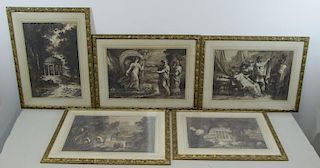Lot of 5 18th/19th C. Ink Drawings.