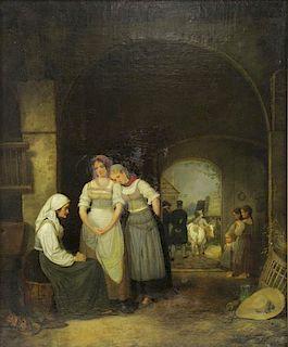 KREUL, Johann. Oil on Canvas. Receiving the News.