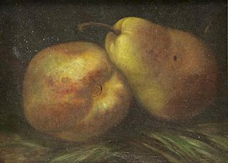 WYDEVELD, Arnoud. Oil on Panel. Pear Still Life.