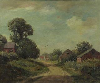 BOSTON, Joseph H. Oil on Canvas. Country Path.