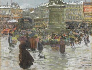 ABEL-TRUCHET, Louis. Pastel on Canvas. Place de