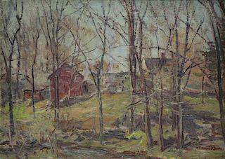 OWEN, Robert Emmett. Oil on Canvas. New England