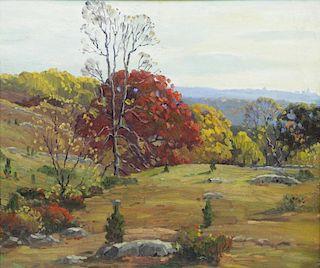 HARRIS, Charles G. Oil on Canvas. Autumn Landscape