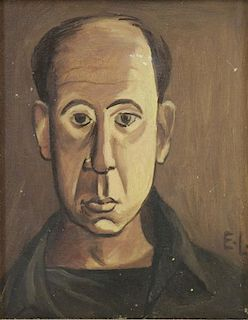 LEVY, Edgar. Oil on Canvas. Portrait of a Man.
