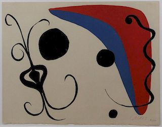 CALDER, Alexander. Lithograph. Untitled Abstract.