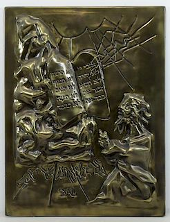 DALI, Salvador. Bas Relief. Moses and the 10