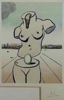 """DALI, Salvador. Lithograph """"The Birth of Venus"""""""