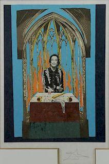 """DALI, Salvador. Lithograph """"Dali's Inferno""""."""