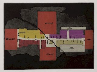 Cooper Holoweski, Plan of the Mall (After Piranesi's Plan of the Mausoleum of Constantina)