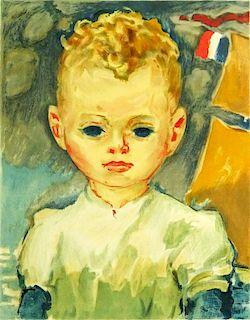 """Kees van Dongen, Dutch (1877-1968) Color Lithograph """"Jean-Marie dans le port"""""""