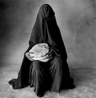 """Irving Penn """"Woman with Three Loaves"""""""