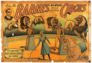 Al. G. Barnes. Big Four Ring Wild Animal Circus.