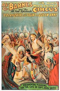 Al. G. Barnes. Pocahontas at the Court of Queen Anne.