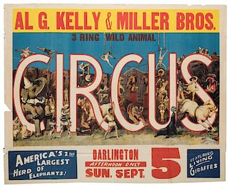 Al. G. Kelly and Miller Brothers Three Ring Wild Animal Circus.