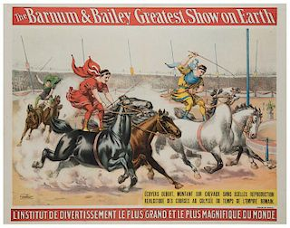Barnum and Bailey Greatest Show on Earth. Charioteers Race.