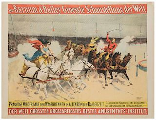 Barnum and Bailey's Greatest Show on Earth. Charioteers Race.