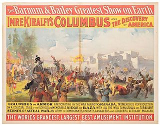 Barnum and Bailey Greatest Show on Earth. Imre Kiralfy's Columbus and the Discovery of America.