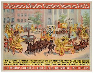 Barnum and Bailey Greatest Show on Earth. Parade Section 12. Delightful Illustrations of Childrens Fairy Tales.