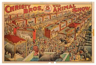 Christy Brothers Five Ring Wild Animal Show.