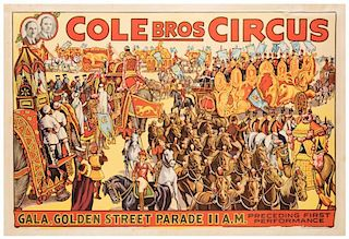 Cole Brothers Circus. Gala, Golden Street Parade.