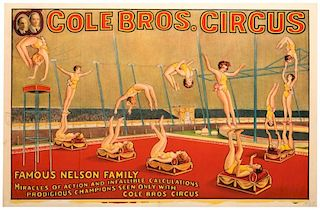 Cole Brothers Circus. Famous Nelson Family. Miracles of Action and Infallible Calculations.