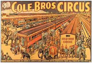 Cole Brothers Wonders From All Parts of the World
