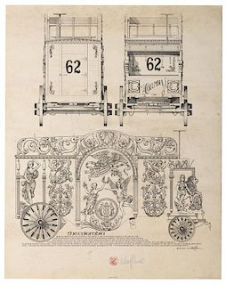 Design of the Columbia Circus Wagon.