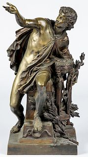 Mathurin Moreau (French, 1822-1912) Apollo Bronze
