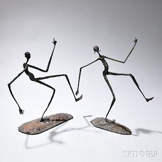 Daniel W. Bates (American, b. 1951)      Keep on Truckin' Sculpture  /Two Figures