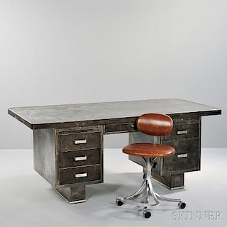 Steel Pedestal Desk