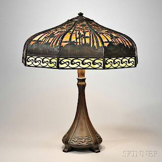 Handel Lamp Co. Tropical Sunset Table Lamp