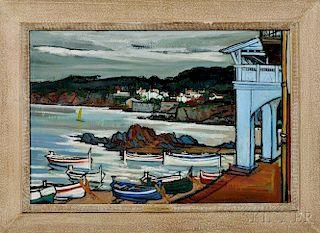Jesus Mecko Casaus (Spanish, 1926-2002)      Harbor Scene