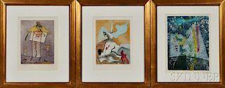 René Crevel (French, 1900-1935)      Three Prints from La Mysticite Charnelle