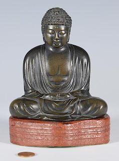 Japanese Signed Bronze Buddha