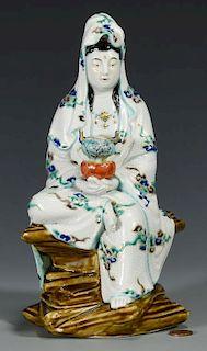 Chinese Porcelain Guan Yin Figure