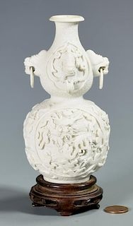 Chinese Biscuit Porcelain Double Gourd Vase