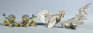 2 Pairs Silver Animal Figures