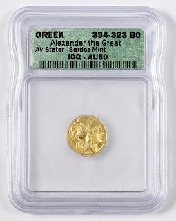 Alexander the Great AV Stater, Sardes Mint