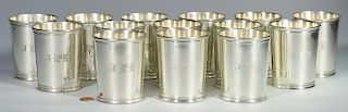 14 Reed & Barton Sterling Julep Cups