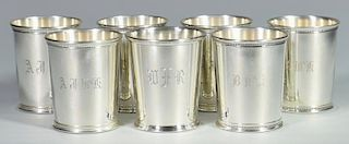 6 Reed & Barton Sterling Julep Cups Plus 1 other